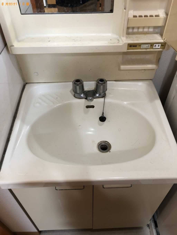 洗面台のお掃除サービス施工前