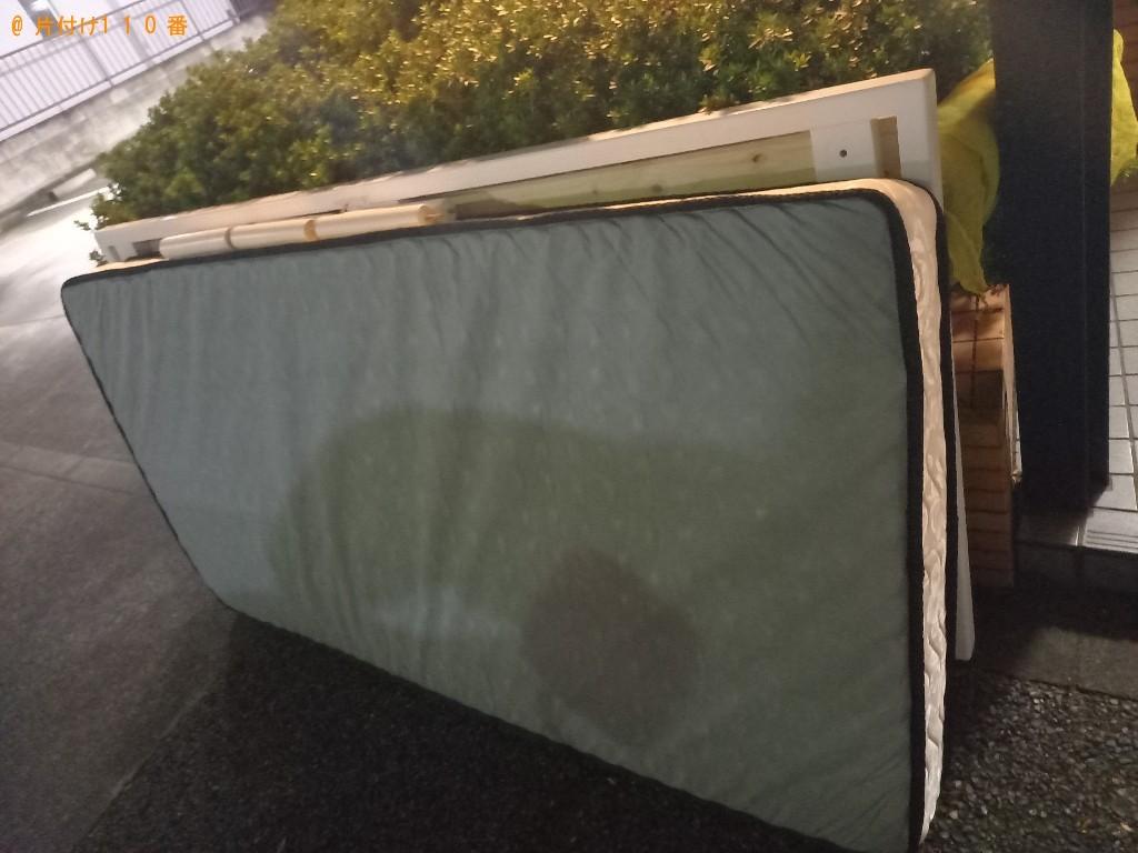 【長崎市】マットレス付きシングルベッドの回収・処分ご依頼
